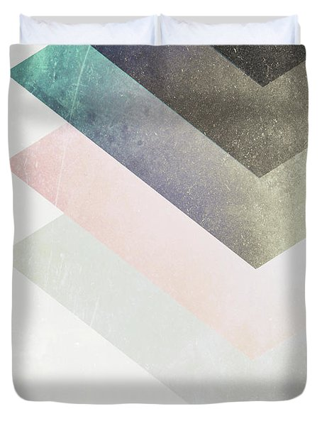Geometric Layers Duvet Cover