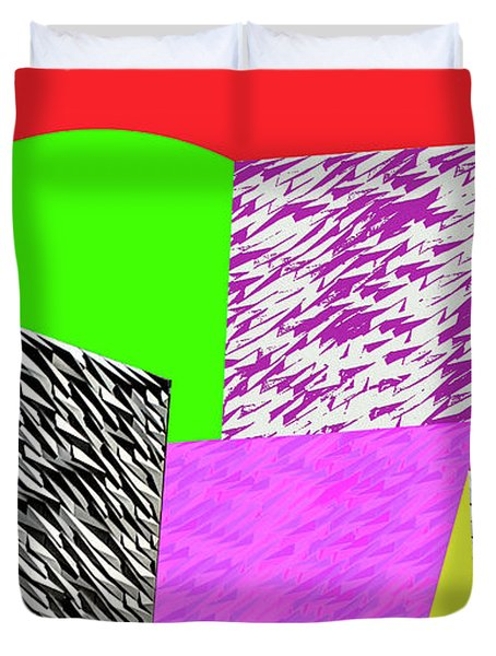 Geometric Shapes 1 Duvet Cover by Bruce Iorio