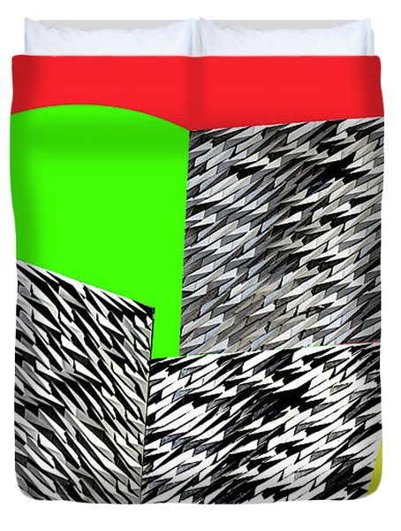Geometric Shapes 3 Duvet Cover by Bruce Iorio