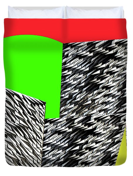 Geometric Shapes 4 Duvet Cover by Bruce Iorio