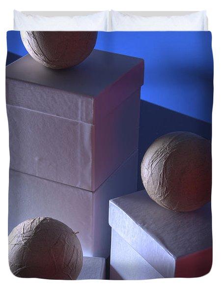 Geometric Triad Duvet Cover