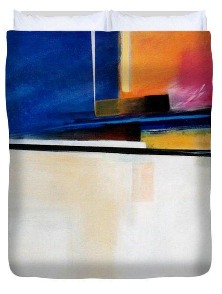 Geometrics 4 Lights Out Duvet Cover by Marlene Burns