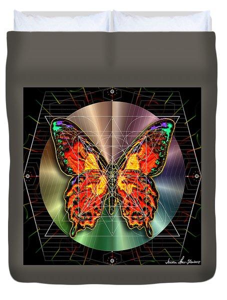 Geometron Fyr Lepidoptera Duvet Cover