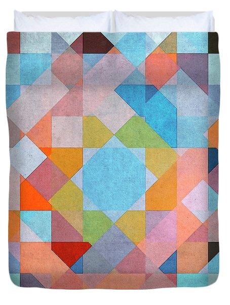Duvet Cover featuring the digital art Geometry by Jutta Maria Pusl