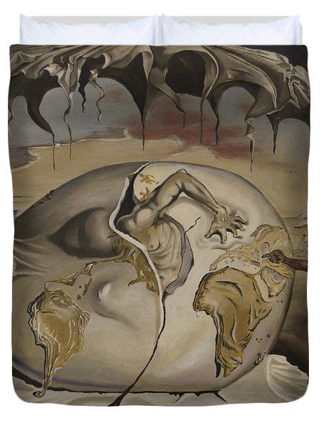 Dali's Geopolitical Child Duvet Cover