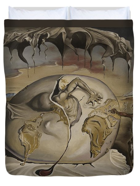 Dali's Geopolitical Child Duvet Cover