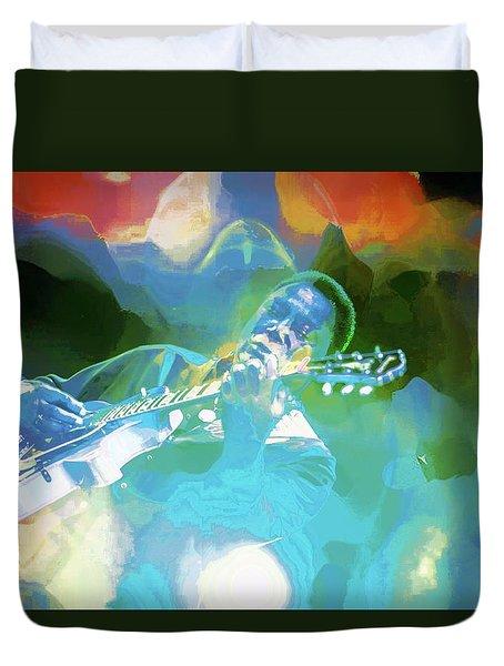George Benson, Watercolor Duvet Cover