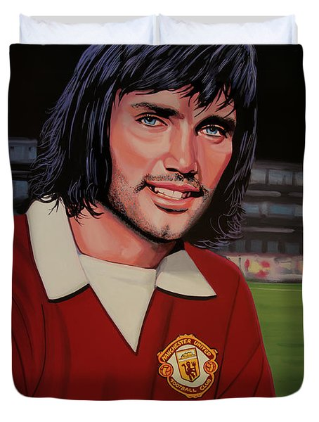 George Best Painting Duvet Cover