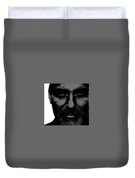 George Clooney 2 Duvet Cover by Emme Pons