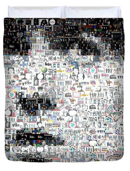 George Harrison Mosaic Duvet Cover by Paul Van Scott