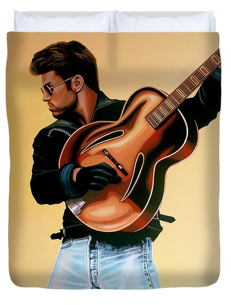 George Michael Painting Duvet Cover
