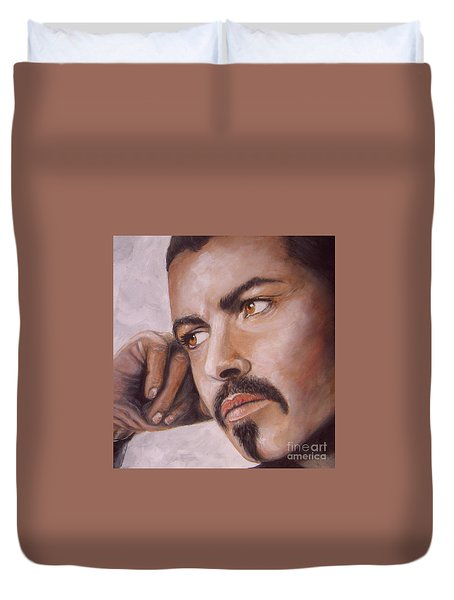 Up Close George Michael  Duvet Cover