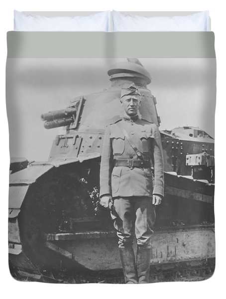 George S. Patton During World War One  Duvet Cover by War Is Hell Store
