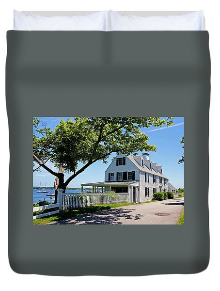 Duvet Cover featuring the photograph George Walton House In Newcastle by Wayne Marshall Chase