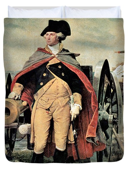 George Washington At Dorchester Heights Duvet Cover