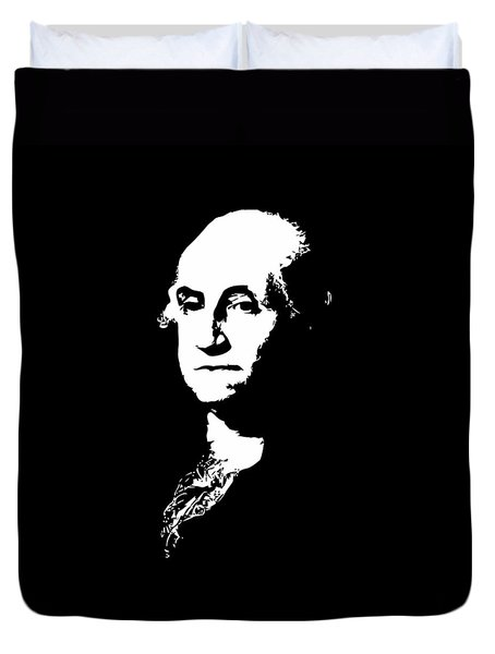 George Washington Black And White Duvet Cover by War Is Hell Store