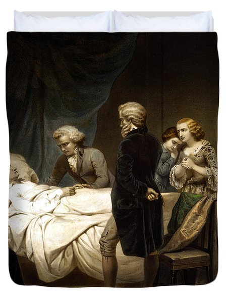 George Washington On His Deathbed Duvet Cover