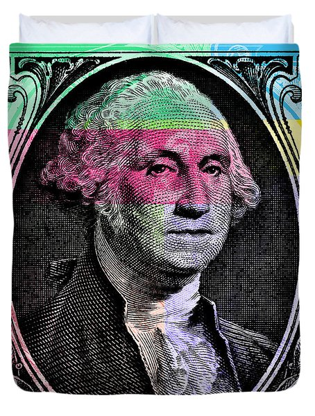 George Washington Pop Art Duvet Cover