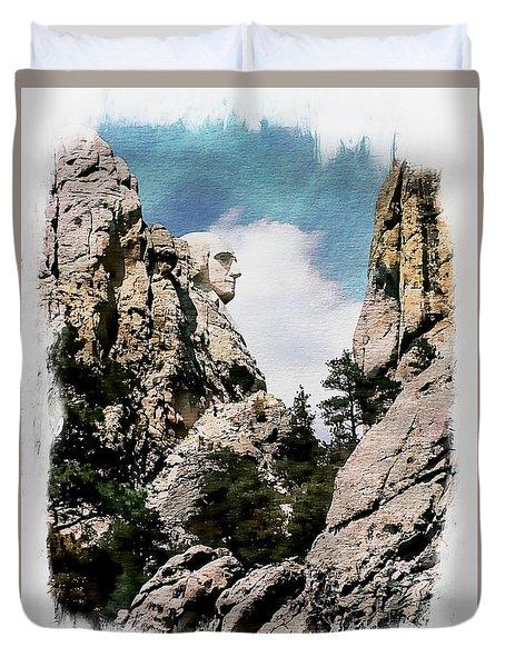 George Washington Profile - Mount Rushmore Duvet Cover