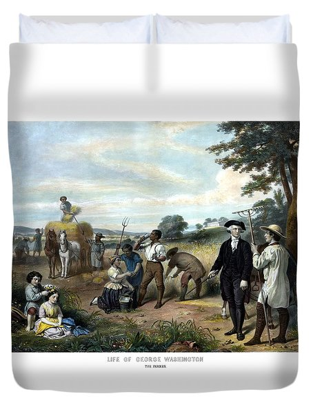George Washington The Farmer Duvet Cover by War Is Hell Store