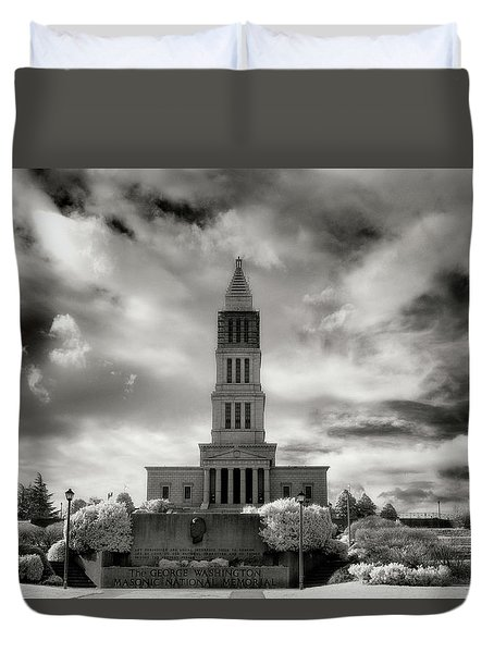 George Washinton Masonic Memorial Duvet Cover