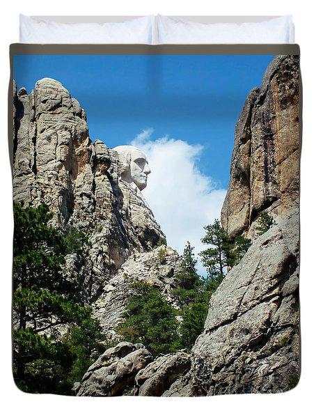 George Washinton Profile - Mount Rushmore South Dakota Duvet Cover
