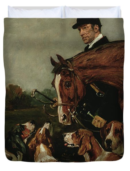 George Wateridge, Huntsman To The New Forest Buckhounds Duvet Cover