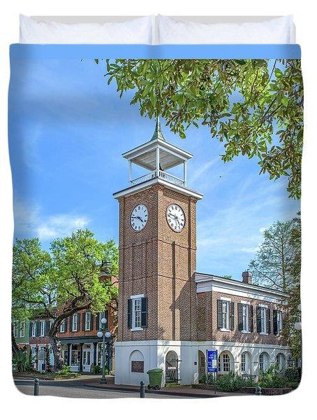 Georgetown Clock Tower Duvet Cover