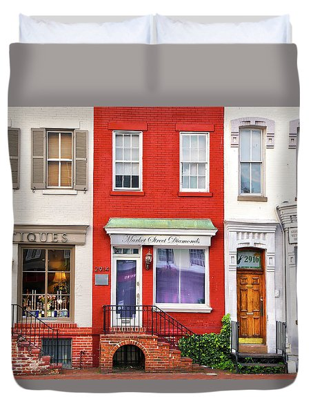 Georgetown Shops Duvet Cover