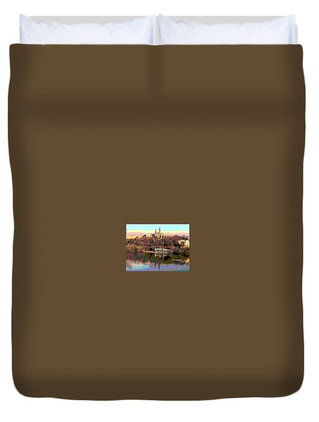 Georgetown University Crew Team Duvet Cover by Charles Shoup