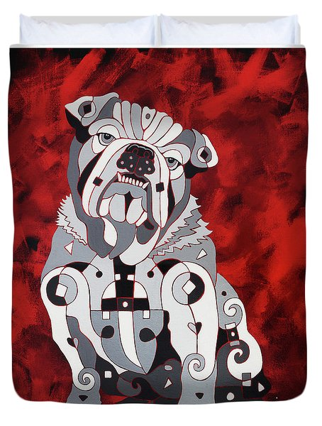 Georgia Bull Dog Duvet Cover