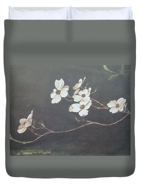 Georgia Dogwood Duvet Cover by Charles Roy Smith