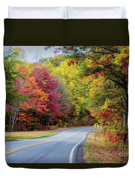 Georgia Scenic Byway Duvet Cover