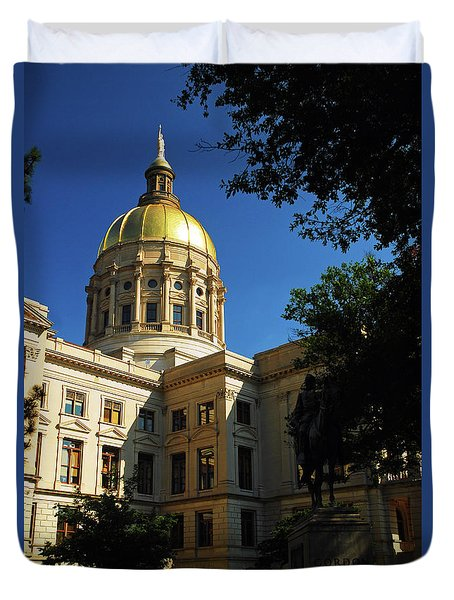 Georgia State Capitol Duvet Cover