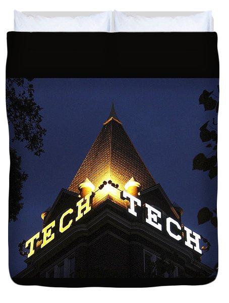 Georgia Tech Atlanta Georgia Art Duvet Cover