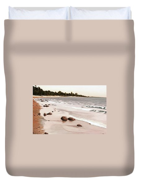 Georgian Bay Beach Duvet Cover