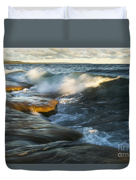 Georgian Bay Sunrise Duvet Cover