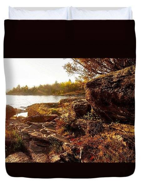 Georgian Bay Sunset Duvet Cover