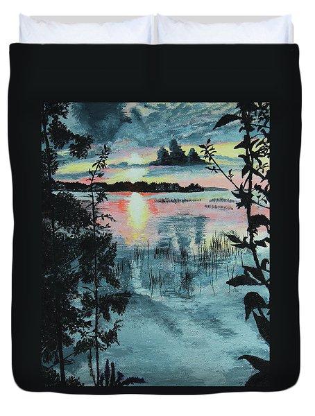 Georgian Bay Sunset Duvet Cover