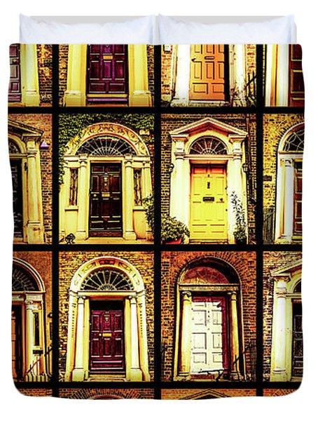 Georgian Doors Of Dublin 4 Duvet Cover