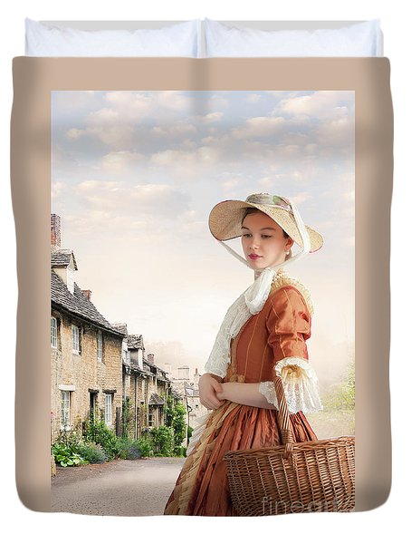 Georgian Period Woman Duvet Cover