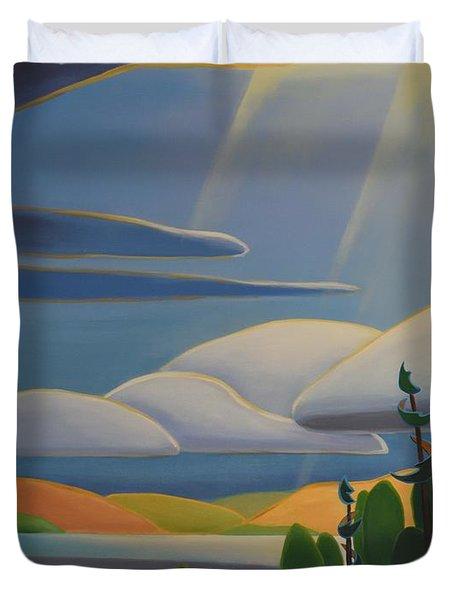 Georgian Shores - Left Panel Duvet Cover