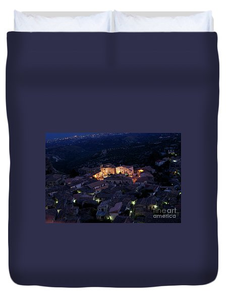 Duvet Cover featuring the photograph Gerace by Bruno Spagnolo