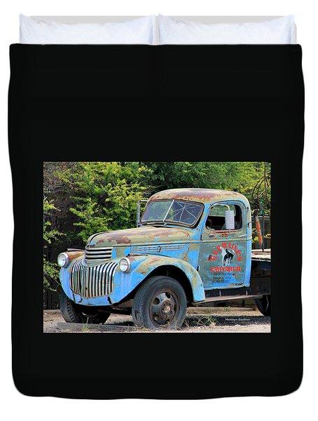 Geraine's Blue Truck Duvet Cover