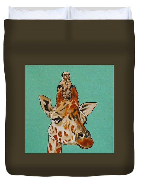 Gerald The Giraffe Duvet Cover