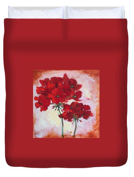 Geranium Duvet Cover