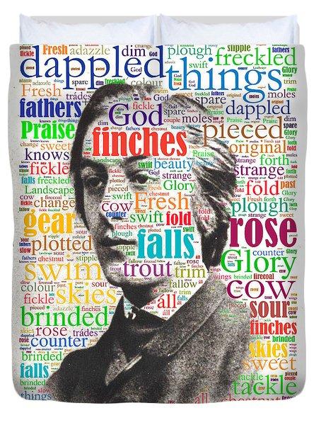 Gerard Manley Hopkins Duvet Cover