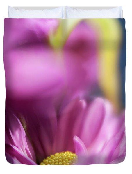 Gerber Daisy In Purple Duvet Cover