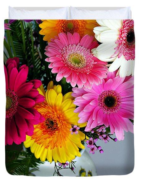 Gerbera Daisy Bouquet Duvet Cover by Marilyn Hunt