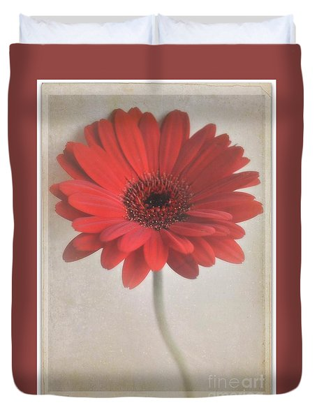 Duvet Cover featuring the photograph Gerbera Daisy by Lyn Randle